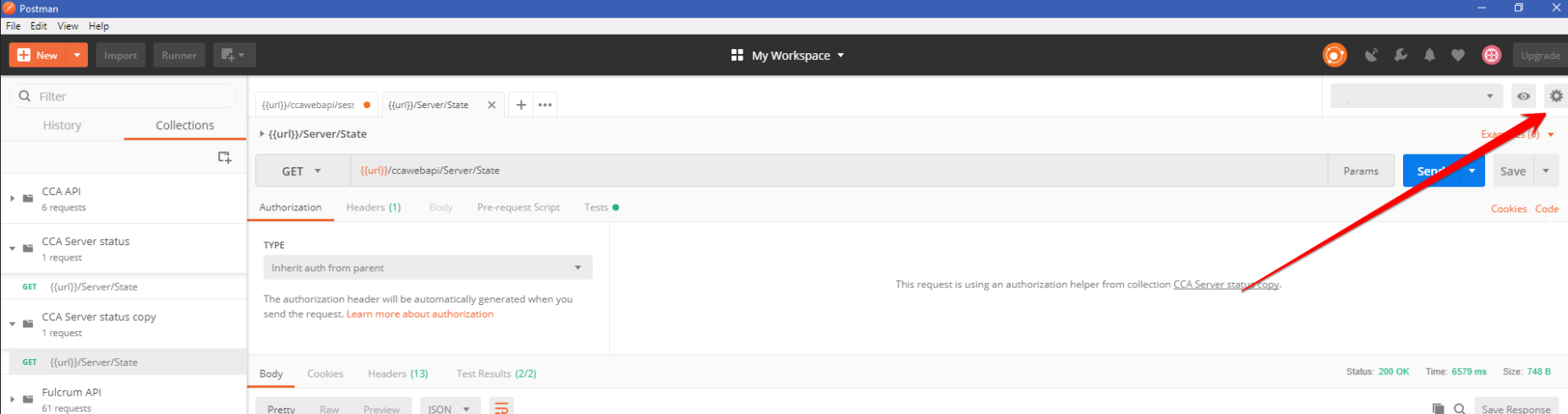 Connecting to CCA Web API with POSTMAN – Askia Help Centre