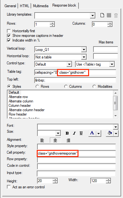 Highlight row and column grid header on mouseover – Askia Help