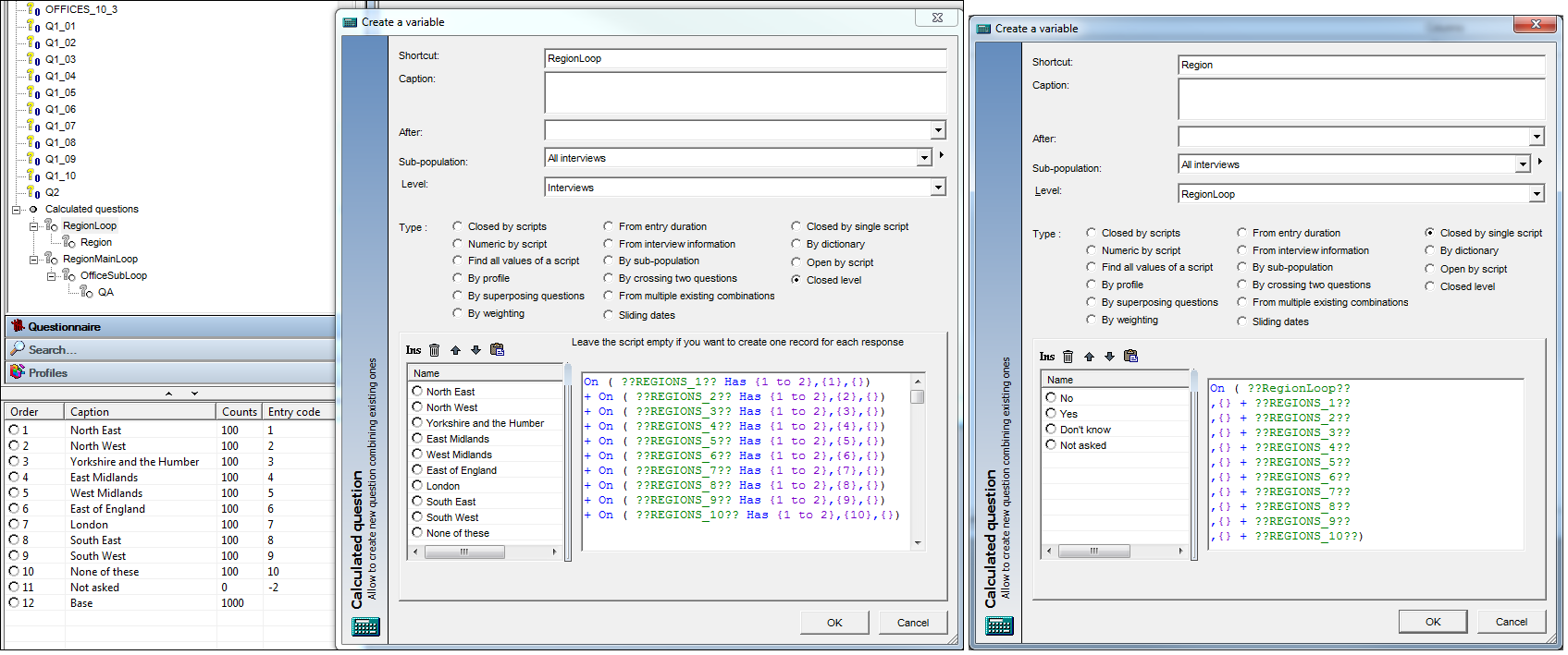 Create Loops & Multiples by Script – Askia Help Centre